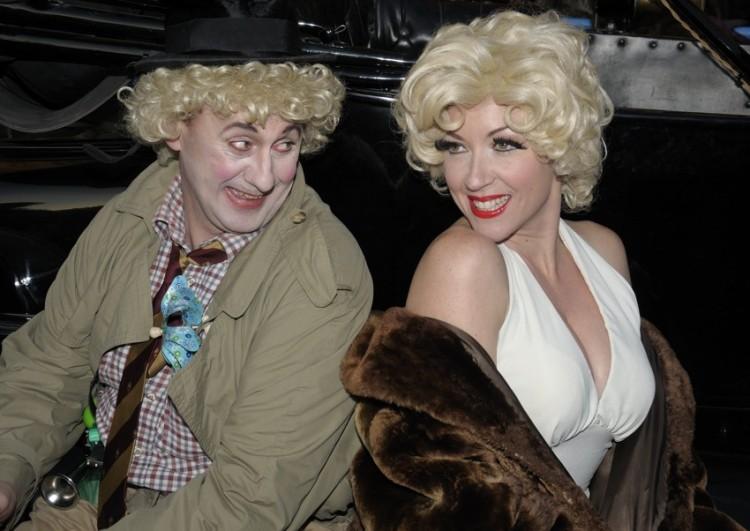 Cristina como Marilyn Monroe